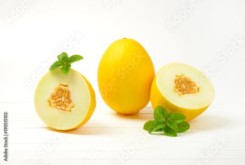 ripe yellow melons