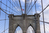 brooklyn bridge with world trade center in New York - 190516191