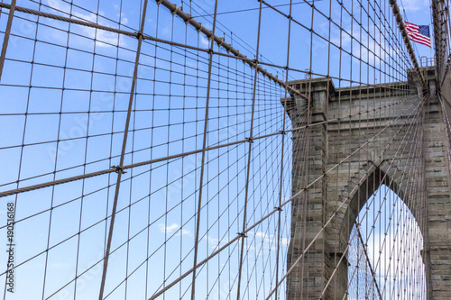 Fotobehang Brooklyn Bridge brooklyn bridge with world trade center in New York