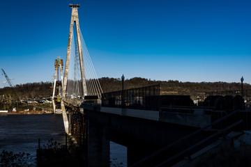 Construction - Ironton-Russell Bridge - Ohio River - Ohio & Kentucky