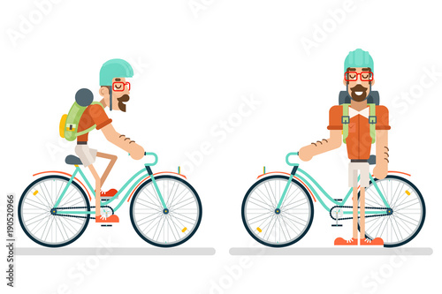 cycling Travel Geek Hipster Lifestyle Ride Bicycle Concept Planning ...