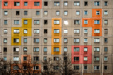 street art on building made with precast concrete slab in Berlin - - 190524363