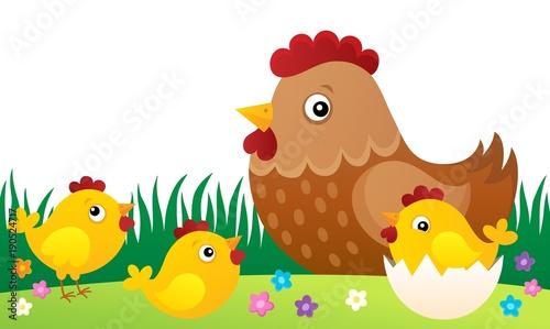 Aluminium Voor kinderen Chicken topic image 5