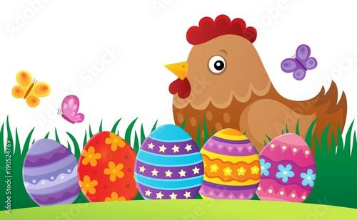 Aluminium Voor kinderen Easter hen theme image 2