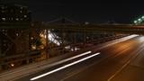 Timelapse night Brooklyn Bridge cars - 190530526