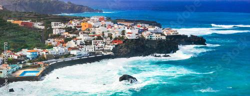 Fotobehang Freesurf Tenerife island - beautiful coastal town San Juan de la Rambla. Canary islands