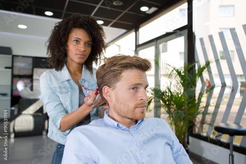 Fotobehang Kapsalon the right hair length