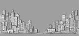 City landscape sketch. Hand drawn illustration - 190534198