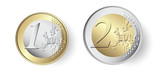 1 and 2 Euro coin - 190534309