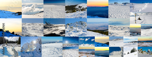Collage of winter photos