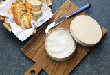french vacherin mont d'or, soft cheese with washed rind - 190557769