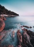 Cliff in Croatia Sunset - 190559140