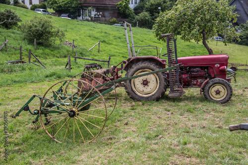 Fotobehang Trekker Landwirtschaftliche Maschinen