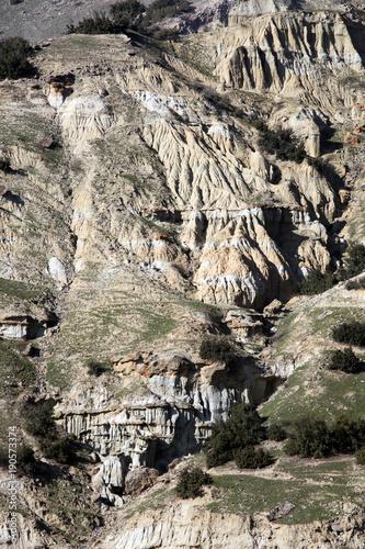 Staande foto Beige Kuladokya is a geological area in Kula, Manisa, Turkey