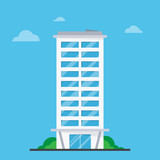 Company building in flat style - 190578347