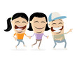 group of happy teens clipart - 190579532