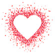 Heart shape background with red hearts