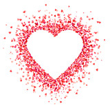 Heart shape background with red hearts - 190591557