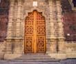 ornate church door mexico city