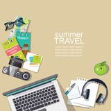 summer travel vector template - 190594959