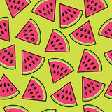 trendy pattern with watermelon slices - 190595133
