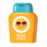vector illustration of sunscreen cream for kids - 190595328