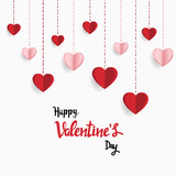 Happy valentine day. with creative love composition of the hearts. Vector illustration - 190601383