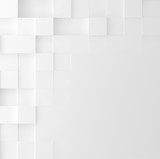 Mosaic square background. Abstract Geometric minimalistic cover design. Vector graphic. - 190602579