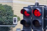 traffic light with red light camera