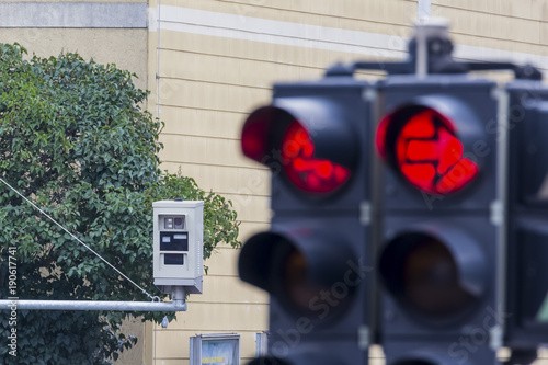 traffic light with red light camera