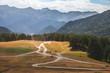 Tusheti road and blue sky - 190620550