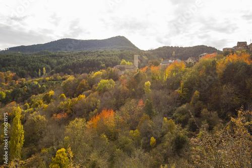 Foto op Plexiglas Herfst Otoño en los Pirineos