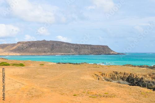 Foto op Plexiglas Blauwe hemel Cape Verde, Africa