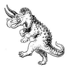 Triceratops - comic style
