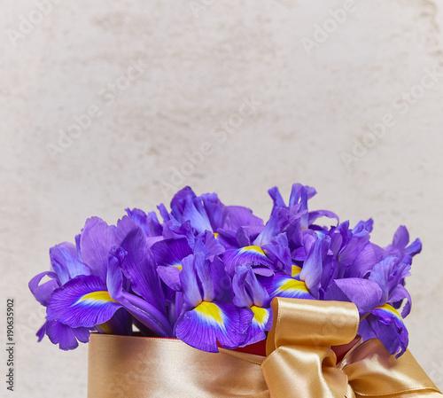 Aluminium Iris Easter bouquet