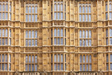 Palace of Westminster facade Houses of Parliament Westminster  London UK - 190644505