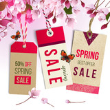 Spring sale tags - 190649124
