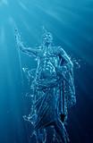 Underwater classical statue with splash effect - 190650738