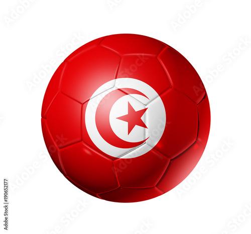 Soccer football ball with Tunisia flag