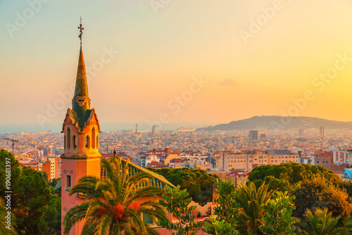 Tuinposter Barcelona Park Guell