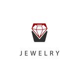 Jewelry. Icon, logo, symbol, sign. Diamond, crystal, precious stone, gemstone. Vector illustration.