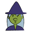 cartoon witch icon image - 190699354