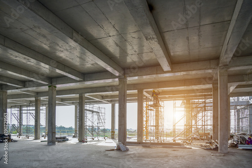 concrete structure construction site no body for background