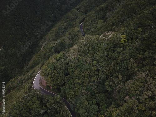 Aluminium Grijze traf. Atemberaubende Landschaften auf Teneriffa aus der Luft