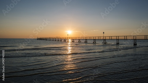 Fotobehang Zee zonsondergang sunset, sea, beach, water, sun