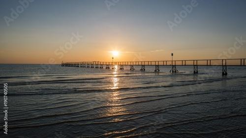 Foto op Canvas Zee zonsondergang sunset, sea, beach, water, sun