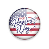 Vector glossy button with american flag - 190746593