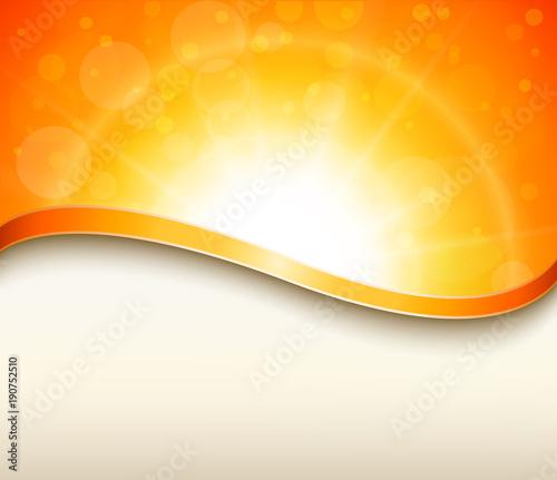 Pogodny pomarańczowy tło z kopii przestrzenią, wiosna projekt.