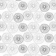 Vector pattern citrus in gray colors palette on a white background - 190755125