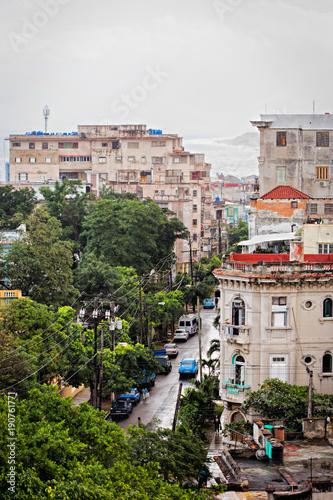 Deurstickers Havana View at Havana panorama, Cuba